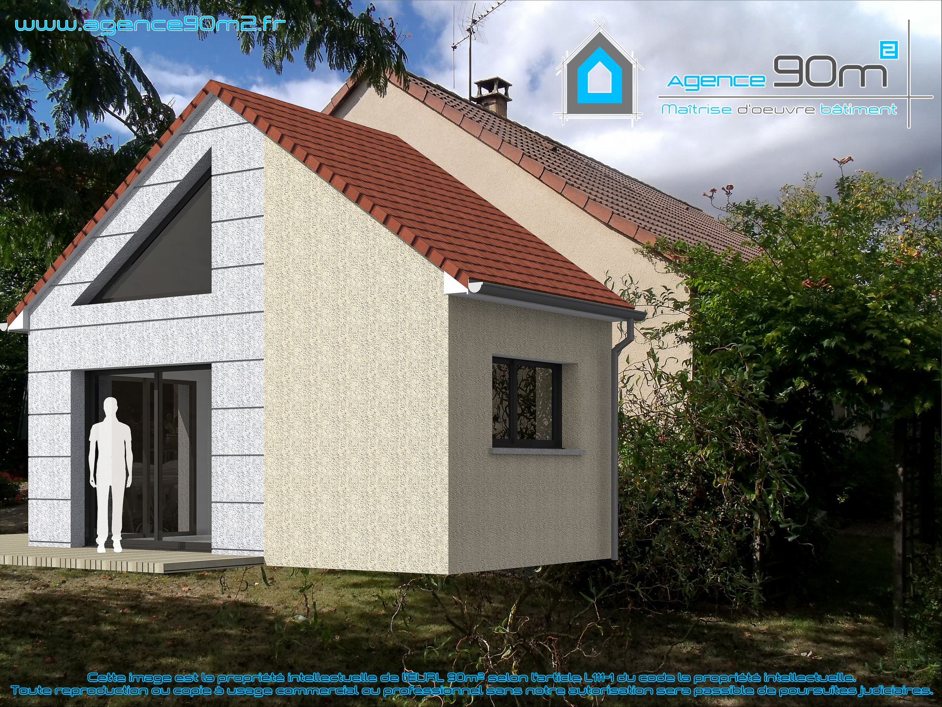 Agence 90m2 projet solesmes 72 for Projet extension